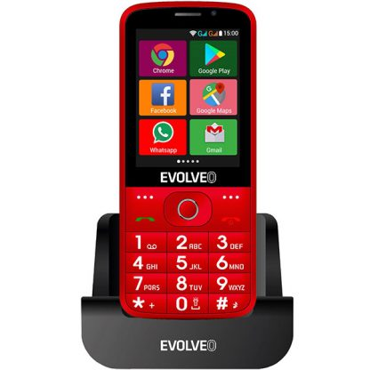 EVOLVEO EasyPhone AD red