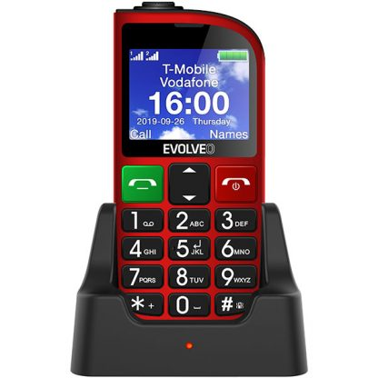 EVOLVEO EasyPhone FM red